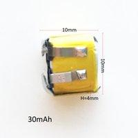 Модель: 401010 3.7V 30mAh маленького размера Lipo Аккумулятор литий-полимерные батареи клетки для MP3-Bluetooth-гарнитура для наушников
