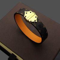 Bijoux de luxe Bijoux Femme Bracelet Motif Cuir Flèche Six Boucle à ongles Bracelet en cuir dame