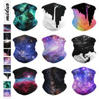 Starry sky digital printing sports outdoor riding mask show ...