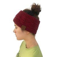 Mütze / Schädelkappen Xeongkvi gestrickte Twist Hair Band Winter Wammer Marke Leere Hüte für Frauen und Mädchen Skullies Beanies 46-58cm