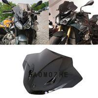 Motorrad Double Bubble Windschutzscheibe Windschutz-Schirm für S1000R 2014 2020 2020 S 1000R 1000 R Black Iridium 17 18