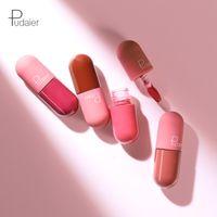 Pudaier 18 colori Lip Gloss impermeabile opaco liquido Rossetto duraturo antiaderenti Coppa Smooth 60pcs di trucco Matte Lip Gloss