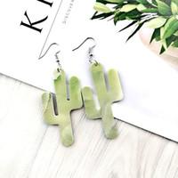 Girls silver plated leather green Stainless Steel plant dangle faux leather earrings womens accessories earrings luxury earrings