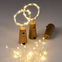 Included Batteries 10PCS 1M 2M LED String Lamps Wine Bottle Stopper Light Cork Shaped For Party Wedding Decoration C0923