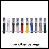 Bunte Glasspritze 1 ml mit Luer-Lock-1CC Maßmarkierung Acryl-Injektor für dickes Öl Vape Cartridge Vorbelegung