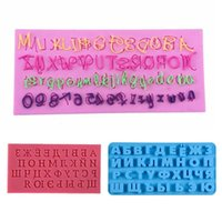3D Russischen Alphabet-Silikon-Form Letters Schokoladen-Form-Kuchen, die Werkzeuge Tray Fondant-Formen Gelee-Plätzchen-Backen-Form