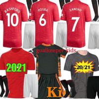 2021 Fussball Fussball für B.Fernandes Pogba Lingard Rashford Utd de GEA Torhüter Kids Kit MAILTOT FUCT Football Hemd Uniform 20 21