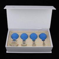 Meraviglioso vetro a coppa 4 tazze a coppa del silicone tazze mediche di bellezza della palla di gomma del massaggio facciale del massaggio del silicone di massaggio del silicone del silicone