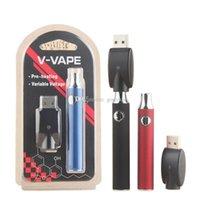 V-VAPE Preheating Battery 650mAh VV 3.6V-3.9V-4.2V Preheat Batteries 510 thread for G2 92A3 Wax Oil Cartridge Vape Pen
