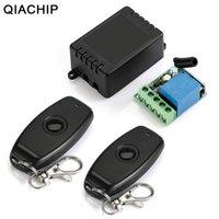 Fernbedienung QIACHIP 433MHz Universal Wireless Control DC 12V 1CH Relais Empfängermodul RF Switch 1 Button Gate Garage