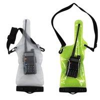 Portatile sacchetto impermeabile della cassa del sacchetto come titolare della copertura della protezione Le radio completa walkie-talkie bidirezionale con laccio