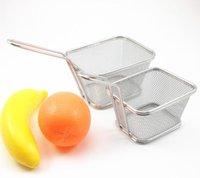 Mini Friteuse en acier inoxydable Servir à manger Présentation panier Cuisine frites Chips Friture Paniers