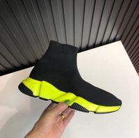 Yeni tasarımcı Yüksek Kaliteli Unisex Casual Düz Ayakkabı Moda Çorap Çizme Geçmeli Elastik Kumaş Hız Eğitmen Runner Man Çorap Ayakkabı