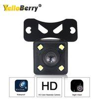 Yellowberry 4 LED del coche cámara de vista trasera del coche de HD vídeo de vista trasera de la cámara reversa de reserva de la visión nocturna HD Aparcamiento