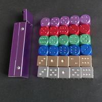 Бесплатная доставка алюминий оптовые 6 сторонних 16мм круглых углов цвета игра в костях