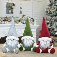 Frohe Weihnachten Schwedische Santa Gnome Plüsch Puppe Ornamente Handgemachte Elf Spielzeug Ferienhaus Party Decor Weihnachtsdekorationen M2637