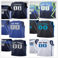 Custom Printed Jerseys Top Quality Man New Blue White Black ...