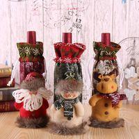 Weihnachtsschmuck Merry Santa Wein Flasche Tasche Abdeckung Weihnachten Dinner Party Tische Dekor