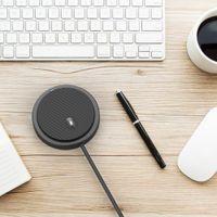 NUOVO USB omnidirezionale microfono a condensatore Mic per il Meeting Business Conference Chat Video Voice radiocronaca Suono Pick-up