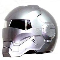 Masei 610 Ironman Motosiklet Kask Casque Motocross Yarım Kask Kişilik Açık Yüz Trend Döngüsü Parlak Gümüş