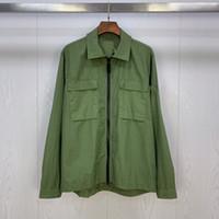 TopStoney 2020 Konng Gonng الربيع والخريف أزياء جديدة العلامة التجارية قميص معطف أزياء الرجال القميص الأساسي