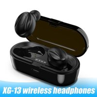 XG-13 سماعات بلوتوث سماعات ستيريو لاسلكية سماعة مزدوجة TWS 5.0 بلوتوث elaphones الرياضة سماعات سماعة Airbuds مع ميكروفون