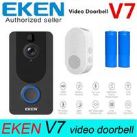 EKEN V7 Gümüş Kapı Çan Kamera 1080 P Wifi Kapı Zili IP Akıllı Kablosuz Güvenlik Köknar Hareket Algılama Alarm Bulut Depolama Bell