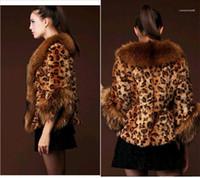 Mulheres Moda Desigenr falso casaco de pele engrossada Quente Ladies Raccoon pele do falso Outwear Casual Mulheres manga comprida roupa