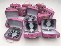 2020 Nuevos 20 estilos 100% Pestañas de visón 25 mm Wispy Wispy Fluffy Fake Peaches 5D Maquillaje Gran Volumen Crisscross Reutilizable Pestañas Falsas Extensiones