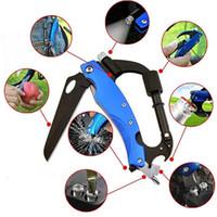 5 في 1 متعددة الوظائف الفولاذ المقاوم للتخييم حلقة تسلق تسلق كليب هوك سلاسل مفاتيح سلاسل Crabiner السكين أداة Carabiners مفتاح 1