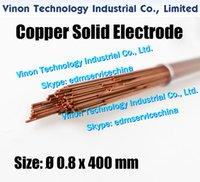 0.8x400MM cuivre massif électrode (200pcs / lot), Rod cuivre massif EDM électrode Dia 0,8 mm, longueur 400 mm utilisé pour Électroérosion Usinage