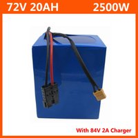 2500 W 72 V 20Ah Lityum Pil 72 V 20.8Ah Elektrikli Bisiklet Pil 72 V 20 S Pil Paketi 3.7 V 2600mAh 18650 Hücre 40A BMS ve 2A Şarj