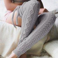 Sıcak Kadınlar Çorap Bacak Isıtıcı Yetişkin Eğlence Uzun Uyluk Yüksek For Women Ekstra Uzun Boot Üzeri Diz Örme Dans Çorap Beenwarmers 11