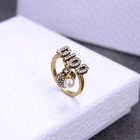 European and American classic letter love diamond open designer ring luxury designer jewelry women rings