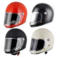 Casque de moto Full Face vintage pour dirt bike coureur de café casco mocular refroidissent cruiser hachoir capacete vélo sur mesure motocross