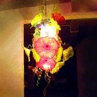 Çiçekler Aydınlatma Tabaklar LED Işık Kaynağı Oturma Odası Mobilya Ağız ile Murano Cam Avize Cam Avize Aydınlatma armatürleri Üflemeli