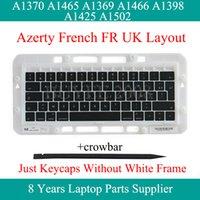 Hakiki A1370 A1465 A1369 A1466 Air için Fransızca Klavye tuşu Tuşlar Caps Pro A1398 A1425 A1502 FR Azerty Klavye Klavye tuşu Anahtar Cap