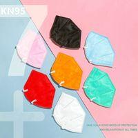 12 couleurs KN95 masque FFP2 haut vente 6 couche visage masque Activated bateau libre de protection noir DHL carbone réutilisable Respirant Valve respirateurs
