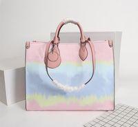 Designer Sac fourre-tout pour la vente d'été 2020 Tie Dye luxe fourre-tout pour sac à main Sacs à main de femme Pastel Collection Tote Escale