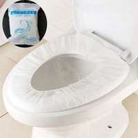 no tejido desechable cojín de asiento de inodoro de viaje de negocios Hotel Bathroom Tela papel higiénico Pad Covers Baño Sanitaria Accesorios VT1536