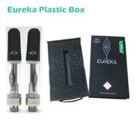EUREKA alta potência Vape cartuchos de 0,8 ml 1 ml de vidro tanques vazios cerâmicos bobina Ecig Vaporizadores canetas grossas Vaporizadores de óleo com Black Box plástico