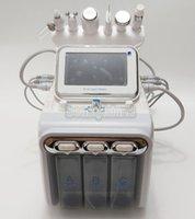 6 in 1 Sauerstoff Gesichtsmaschine Hydradermabrasion Ultraschall RF Kalthammer SPA WASSER Sauerstoff Spray Hydra Cleaner Hydro Dermabrasion