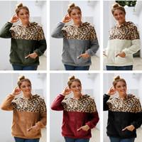 2020 doppi lati Fleece Hoodie incappucciato Sherpa Pullover Maglione Cappotti delle signore delle donne di inverno di autunno caldo parti superiori di modo Outwear con Pocket E82002