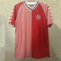 1986 الرجعية الدنمارك لكرة القدم جيرسي 1992 1998 # 10 m.laudrup # 5 heintze عودة قميص كرة القدم # 11 b.Laudrup القديمة مايوه