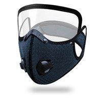 Ciclo claro máscara de doble válvula puede poner carbono filtro activado de bicicletas anti-polvo exterior protectora resuable cubierta FFA4337 boca desmontable
