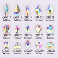 20PCS 크리스탈 네일 다이아몬드 스톤 스트 라스 AB 유리 모조 다이아몬드를 들어 3D 못 예술 장식 용품 쥬얼리 QB217-246A