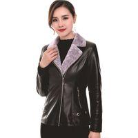 Femme's Cuir Faux YMWMHU 2021 Mode Femmes Vestes chaudes manches longues manteau d'hiver épais manteau d'hiver mince décontracté veste en PU plus taille