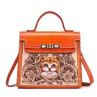El Çiçekler Mischpalette Oyma Lüks Çanta Kedi Kadın Çanta Tasarımcı 2020 Çinli Çanta