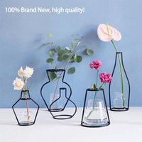Brand New Style Retro Iron Line Flowers Vase Metal Plant Hol...