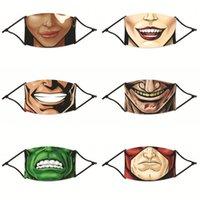 Desenhos animados bocas de dentes Máscaras reutilizáveis Mascarilla Moda Pm 2,5 Protect Respirador personalizado com filtro Ladies Crianças 4 2zya C2